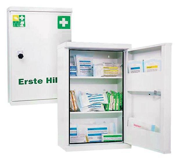 Erste-Hilfe-Schränke, Stahl, DIN 13169