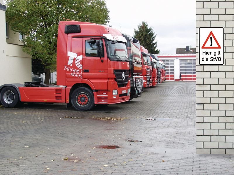 Hier gilt die StVO - STANDARD Kombi-Verkehrsschilder, Aluminium