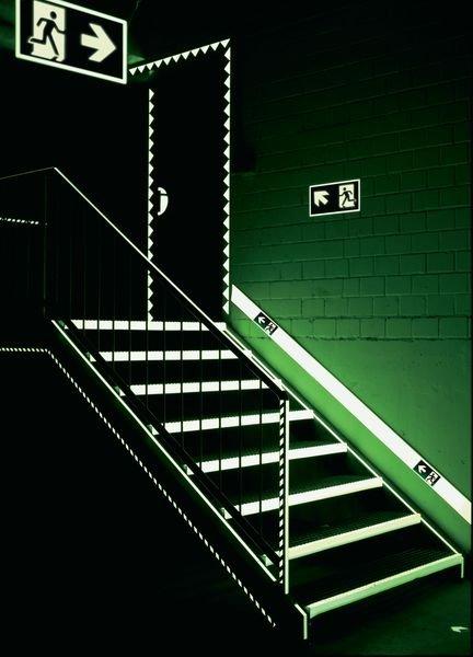Everglow® Türschlossmarkierung - Fluchtwegkennzeichnung, bodennah, langnachleuchtend - Sicherheitskennzeichnung und Rettungszeichen