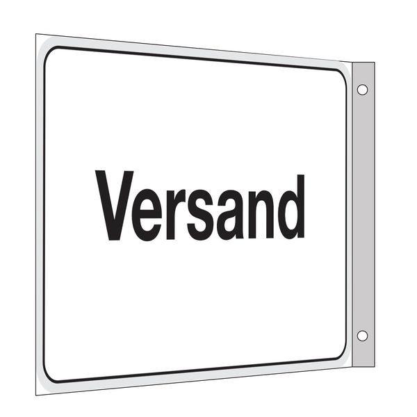 Versand - Fahnen- und Winkelschilder, mit Text