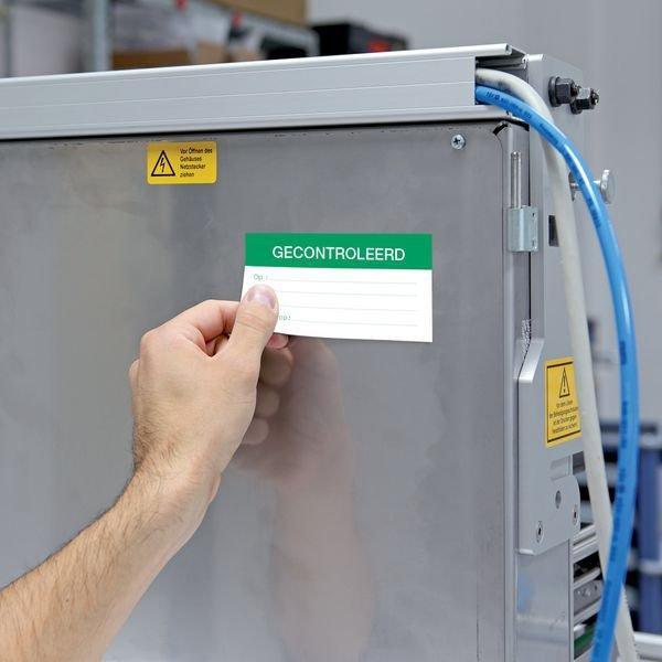 Gecontroleerd - Magnetetiketten zur Qualitätssicherung, belgisch