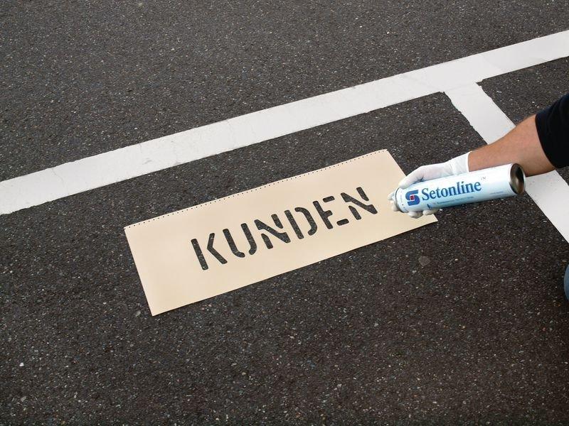 Mitarbeiter - Schablonen zur Parkplatzkennzeichnung