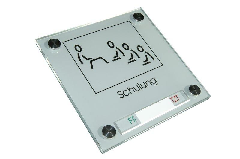 ELEGANCE Türschild mit Frei/Besetzt-Schieber - Beschilderungssysteme