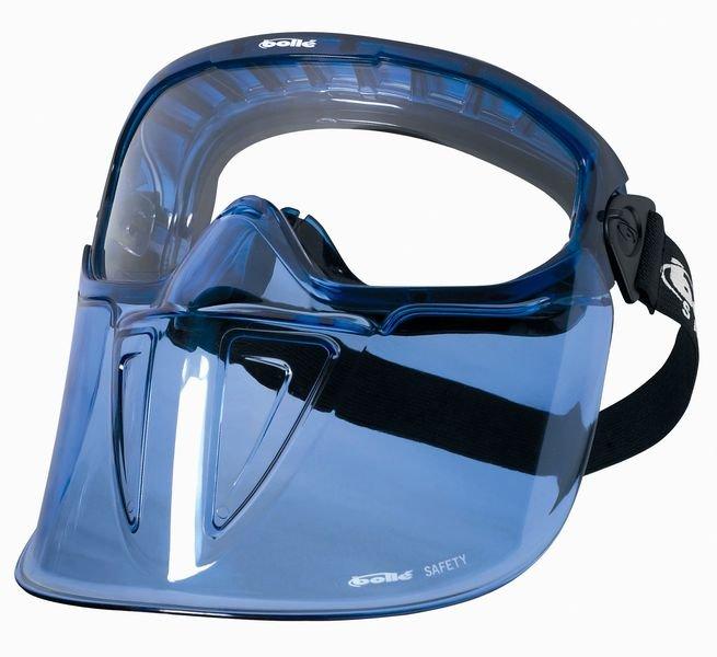 Visier für Vollsichtbrillen, Erweiterbar, gemäß EN 166 - Persönliche Schutzausrüstung
