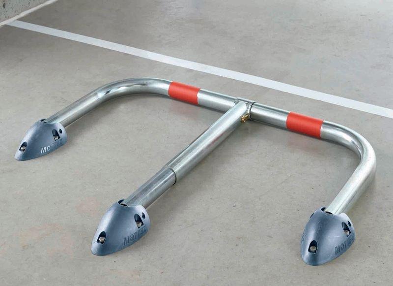 Rund-Parkbügel mit Polypropylen-Fußplatte - Außenanlagen und Parkplätze