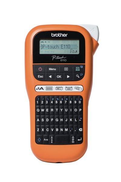 Brother Beschriftungsgeräte PT-E110 (PTE110G1) - Thermodrucker und Thermotransferdrucker