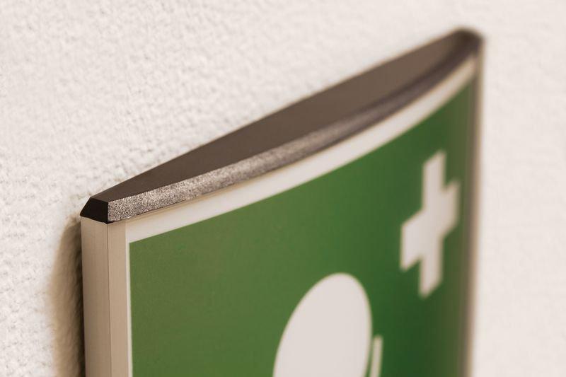 Notdusche - Erste-Hilfe-Türschilder, konvex, EN ISO 7010 - Erste-Hilfe-Schilder
