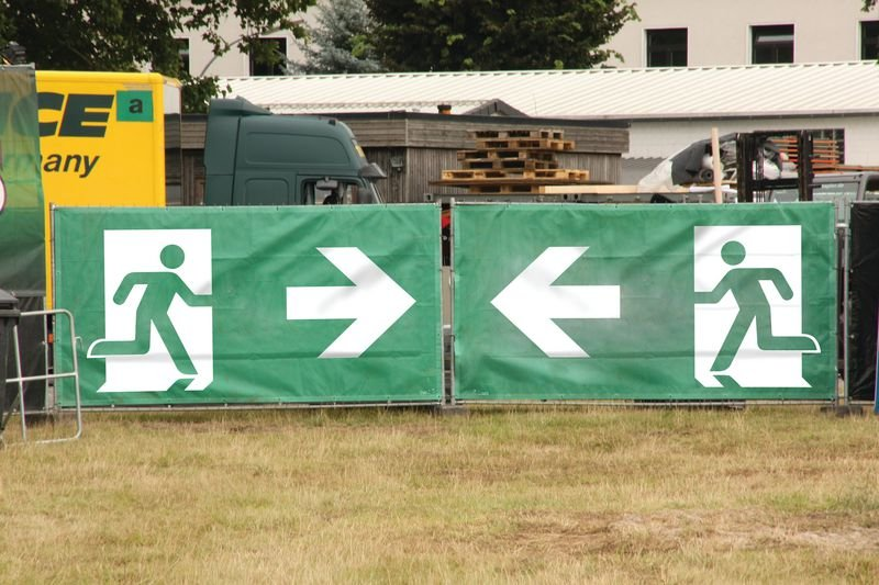 Exit - Notausgangsbanner im Großformat
