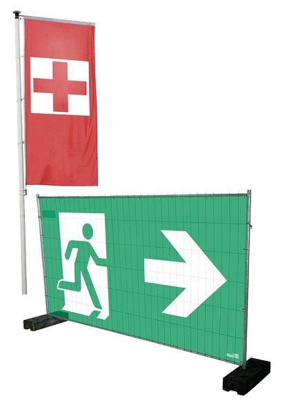 Exit - Notausgangsbanner im Großformat - Rettungszeichen neue ASR A1.3, EN ISO 7010