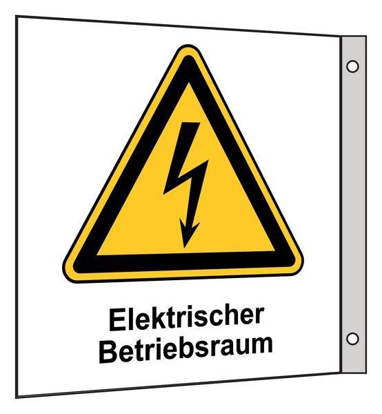 Elektrischer Betriebsraum - Fahnen- und Winkelschilder, Elektrotechnik