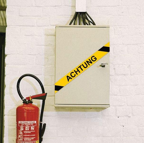 Kein Zutritt - Warnbänder mit Text