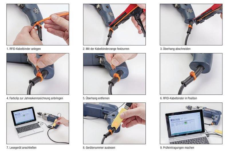 RFID-Kabelbinder mit Farbclips - Barcode und RFID Scanner-Systeme