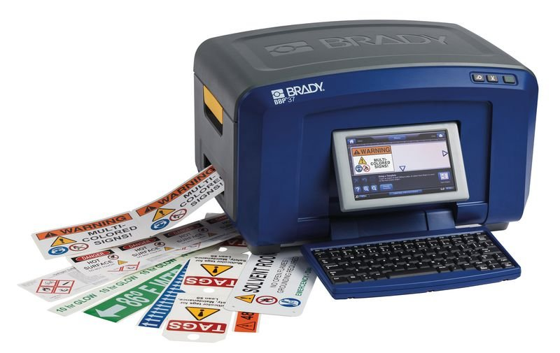 Brady Multicolourdrucker BBP 37 mit Plotter