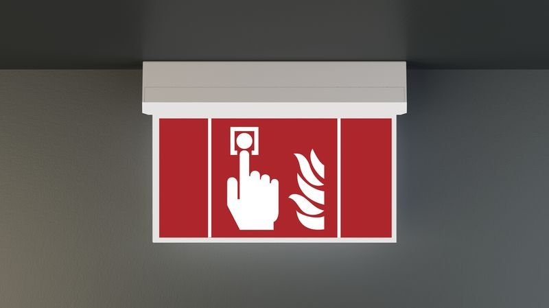 LED-Scheiben Notleuchte, DIN EN 60598-1, DIN EN 60598-2-22 und DIN EN 1838 - Notbeleuchtung
