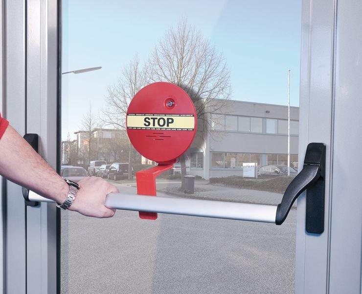 Türwächter mit Alarm für Notausgangstüren, mit Stangengriff
