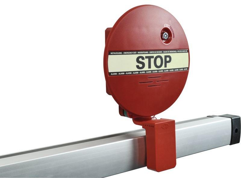 Türwächter mit Alarm für Notausgangstüren, mit Druckstangen