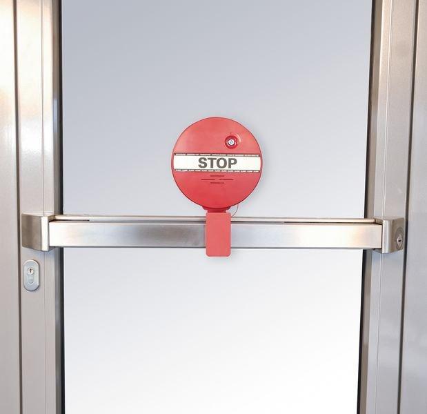 Türwächter mit Alarm für Notausgangstüren, mit Druckstangen - Brandschutztür- und Fluchttürsicherung