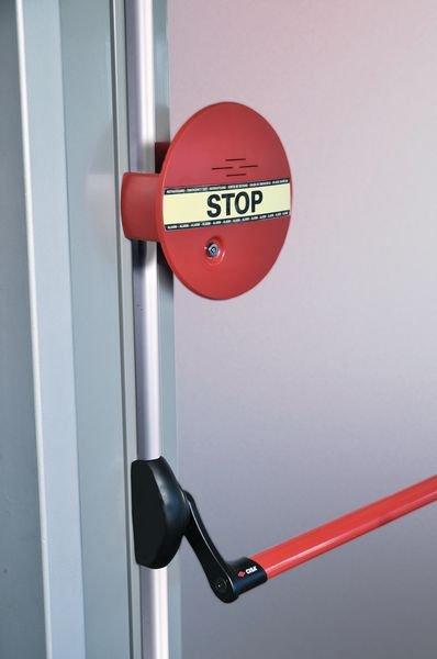 Türwächter mit Alarm für Notausgangstüren, mit Schubstangen