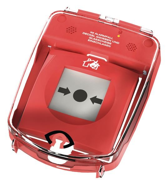 Schutzabdeckung mit Alarm für Brandmelder