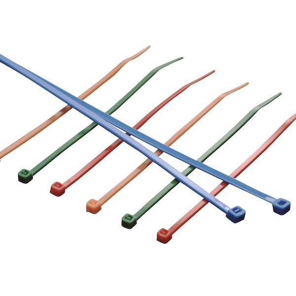 Kabelbinder mit Kunststoffzunge in verschiedenen Farben