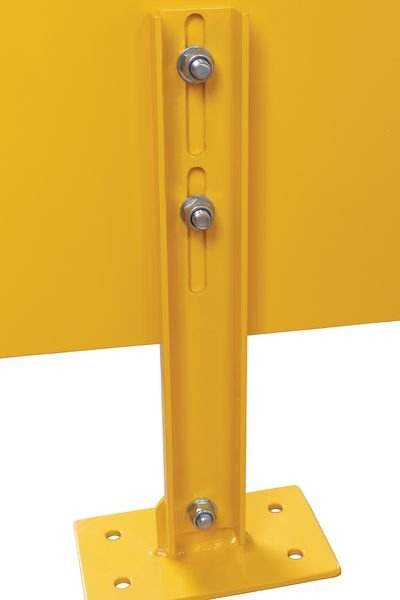 Anfahrschutzplanken, höhenverstellbar - Kantenschutz und Rammschutz