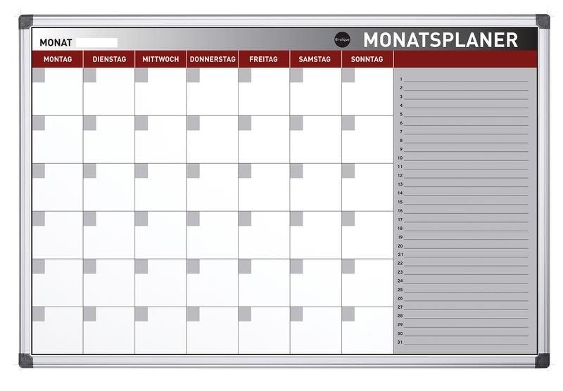 Bi-Office Monatsplanungstafel, magnetisch