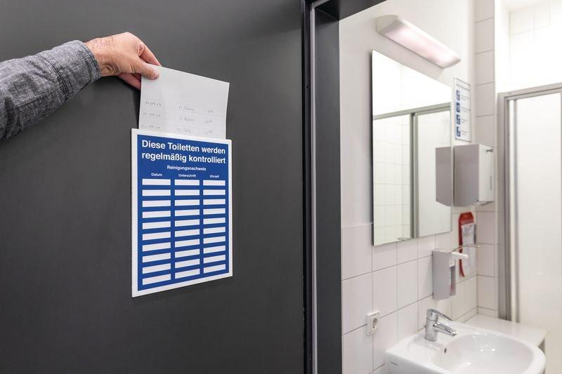 Hygiene-Einschubschilder