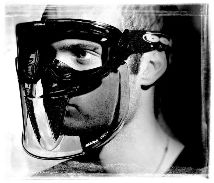 Visier für Vollsichtbrillen, Erweiterbar, gemäß EN 166 - Schutzbrillen und Gesichtsschutz