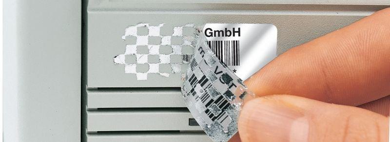 Barcode-Etiketten mit Text und Nummerierung nach Wunsch, Polyester, übertragungssicher - Barcode-Etiketten