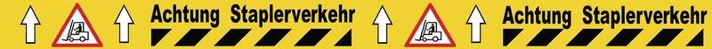 Achtung Staplerverkehr - Bodenmarkierungsbänder, bedruckt