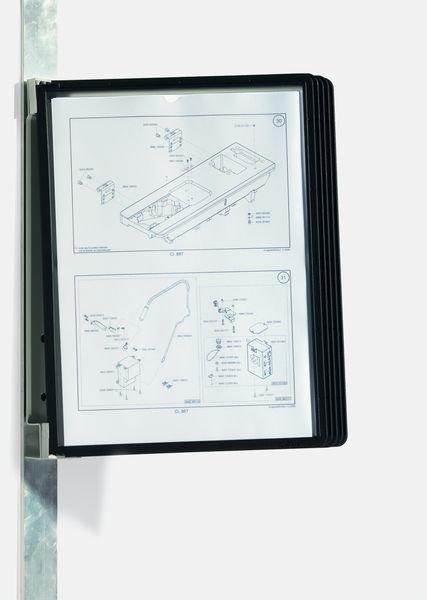 DURABLE Sichttafel-System für 5 Tafeln, magnetisch