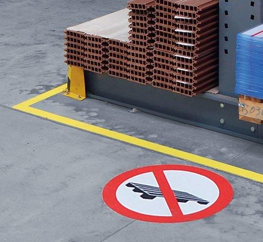 Paletten abstellen verboten - Verbotszeichen zur Bodenmarkierung - Bodenmarkierung