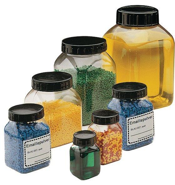 Feststoff-Weithalsdosen, glasklar