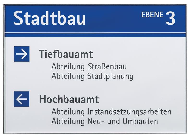 Edelstahl-Wegweiser