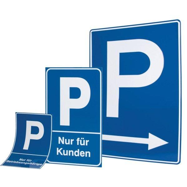 Parkschilder - Symbol Parken mit Text nach Wunsch