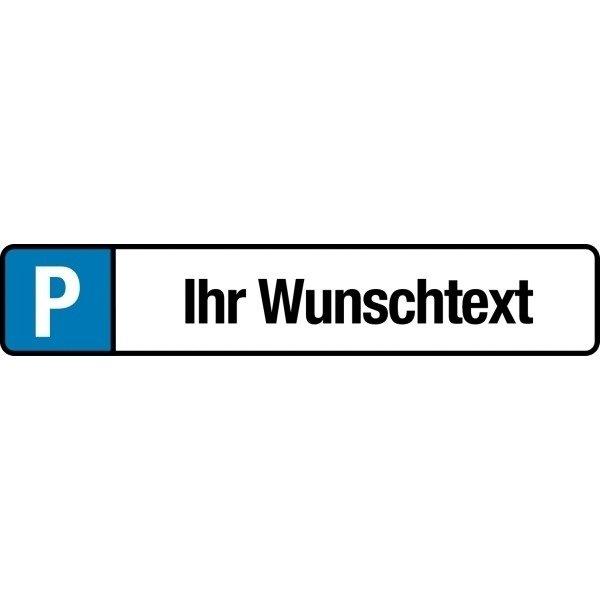 Parkplatz-Reservierungsschilder aus Aluminium mit Text nach Wunsch