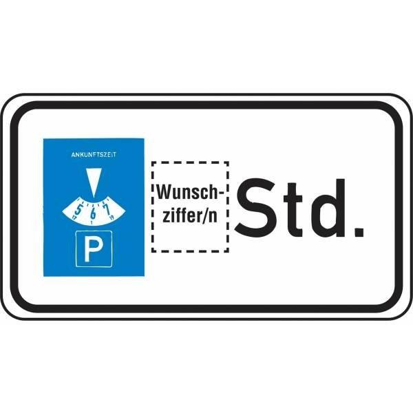 Verkehrszeichen-Zusatztafeln, individuell, mit Wunschziffer - Seton Switzerland