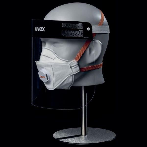 uvex Gesichtsvisier als Spuckschutz - Persönliche Schutzausrüstung