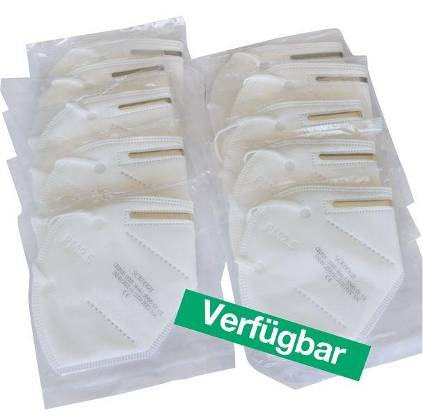 Einweg-Atemschutzmaske ohne Ventil, Faltmaske, FFP2/KN95 nach EN 149 - Persönliche Schutzausrüstung