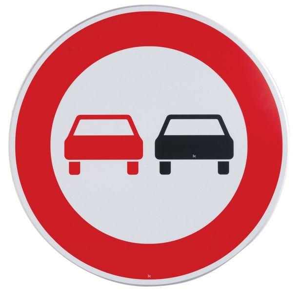 Überholverbot für Kfz aller Art - Verkehrszeichen für Deutschland, StVO, DIN 67520