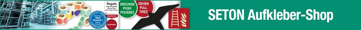 Aufkleber jetzt kaufen - Klebeschilder - große Auswahl | SETON