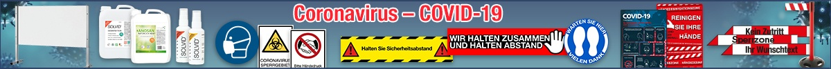 Coronavirus-Schutzmaßnahmen: Schutzkleidung, Absperrung