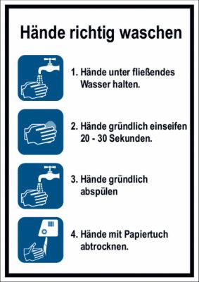 Anleitung Hände richtig waschen