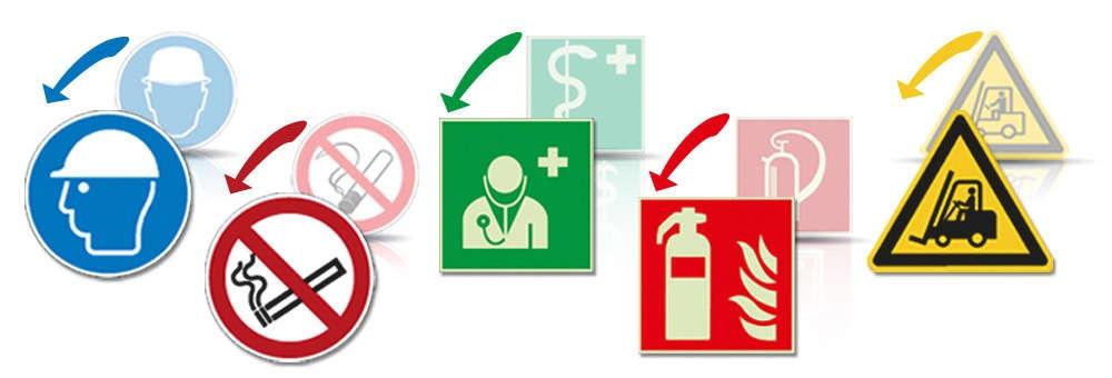 ASR A1.3-2013 & DIN EN ISO 7010