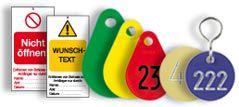 Ventil-, Werkzeug- und Anlagenkennzeichnung
