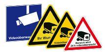 Videoüberwachungs-Schilder