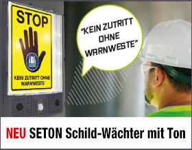 NEU! SETON Schild-Wächter mit Ton - Sorgen Sie dafür, dass Sicherheitshinweise nie wieder übersehen werden