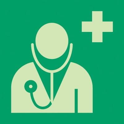 Neues grünes Arzt Schild