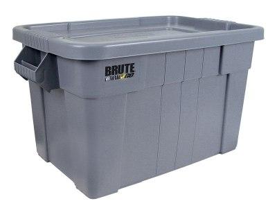Graue Aufbewahrungsbox aus Kunststoff