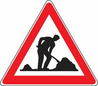 Baustelle (Arbeitsstelle) Verkehrszeichen SSV Schweiz
